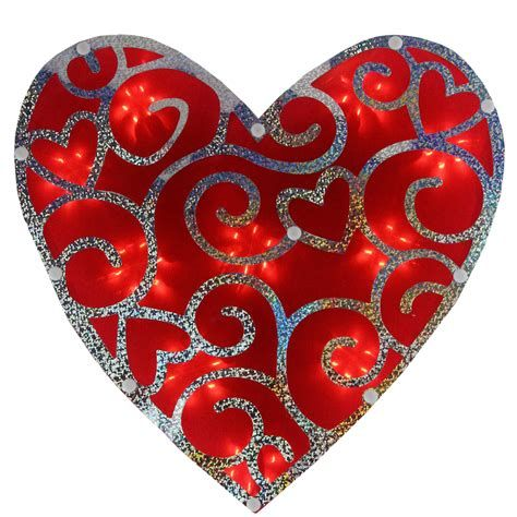 Comfy Lighted Valentine Window Decorations Ideas 46