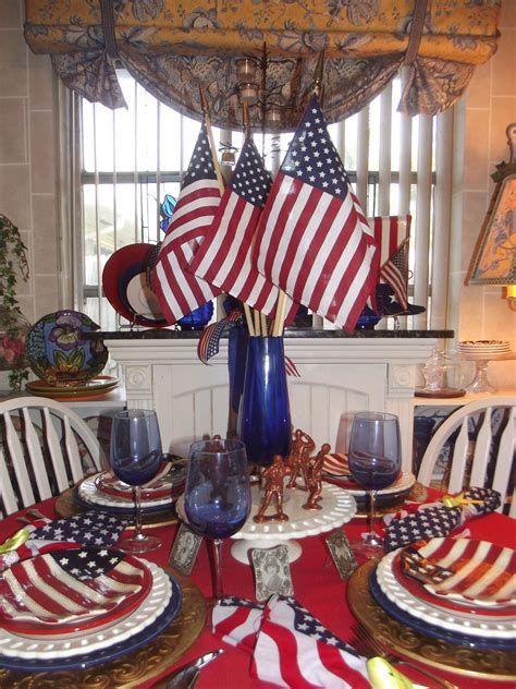 Amazing Patriotic Table Decorations Ideas 04