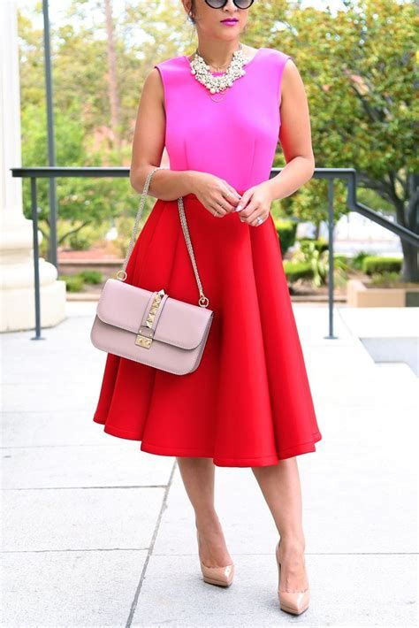 Amazing Pink And Red Dresses Ideas 38