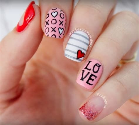Beautiful Nail Designs For Valentines Day 30