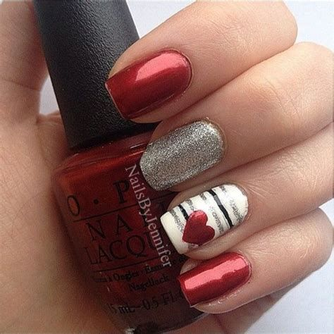 Beautiful Nail Designs For Valentines Day 35
