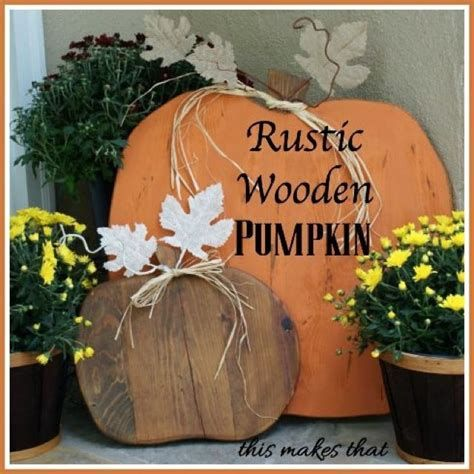 Beautiful Wooden Pumpkins For Yard 01