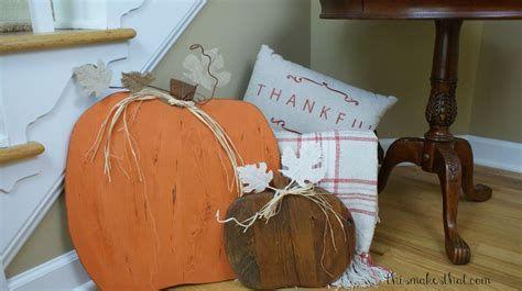 Beautiful Wooden Pumpkins For Yard 04