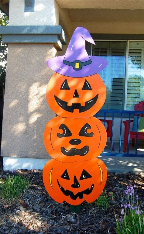 Beautiful Wooden Pumpkins For Yard 15