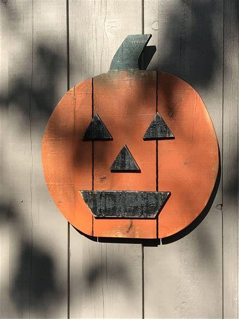 Beautiful Wooden Pumpkins For Yard 19
