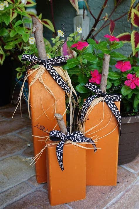 Beautiful Wooden Pumpkins For Yard 25