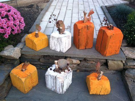 Beautiful Wooden Pumpkins For Yard 28