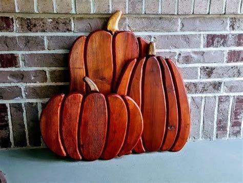 Beautiful Wooden Pumpkins For Yard 38