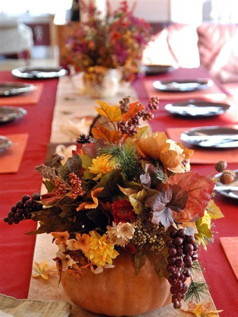 Cool Table Centerpiece For Thanksgiving 24
