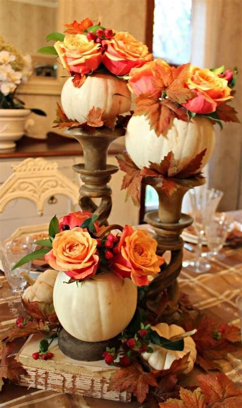 Cool Table Centerpiece For Thanksgiving 32