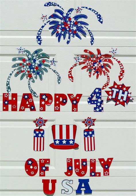 Cozy 4th Of July Door Decorations 16
