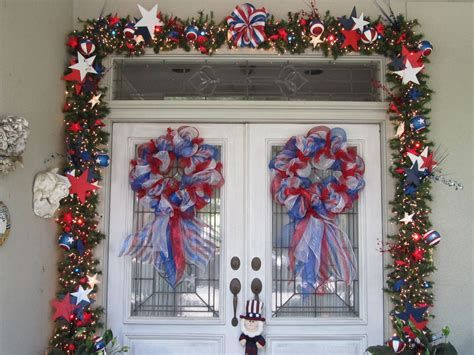 Cozy 4th Of July Door Decorations 33