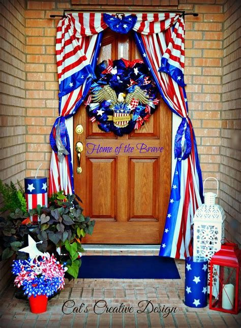 Cozy 4th Of July Door Decorations 39