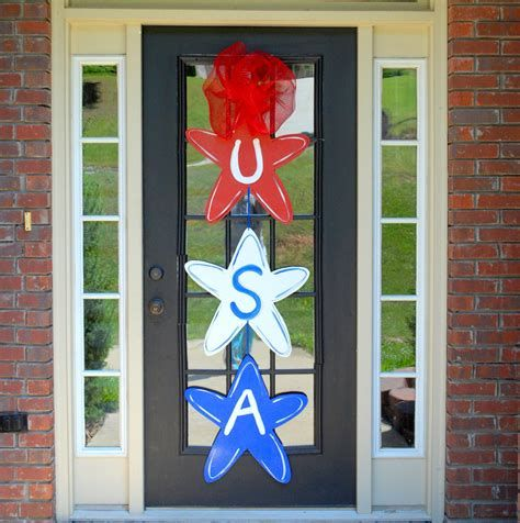 Cozy 4th Of July Door Decorations 45