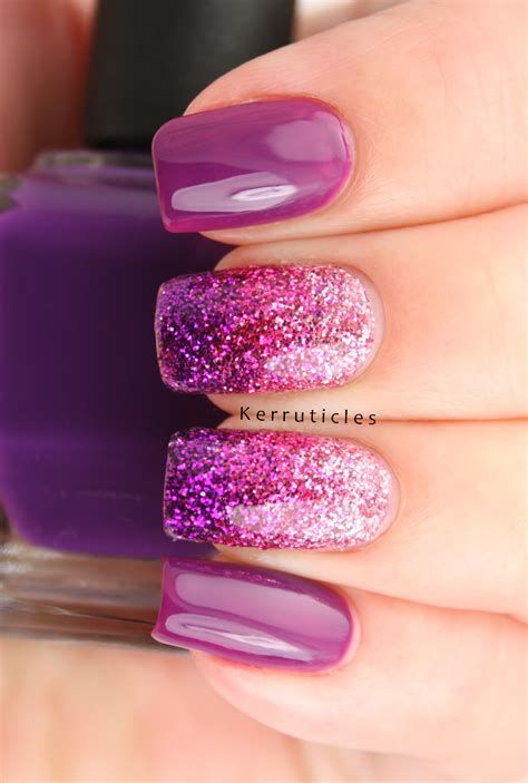 Creative Purple And Pink Nails 01