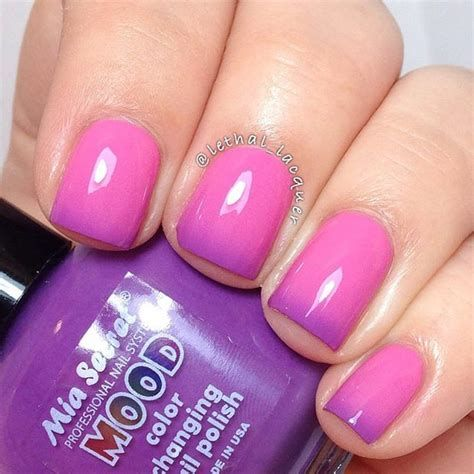 Creative Purple And Pink Nails 04