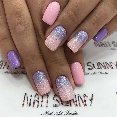 Creative Purple And Pink Nails 12