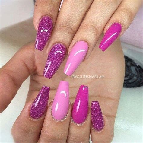 Creative Purple And Pink Nails 17
