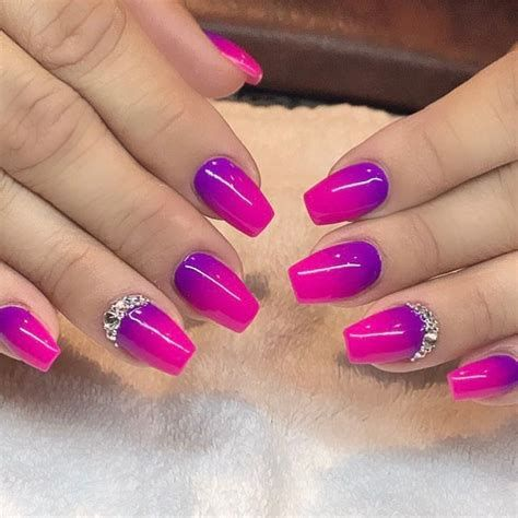 Creative Purple And Pink Nails 22