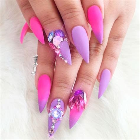 Creative Purple And Pink Nails 27
