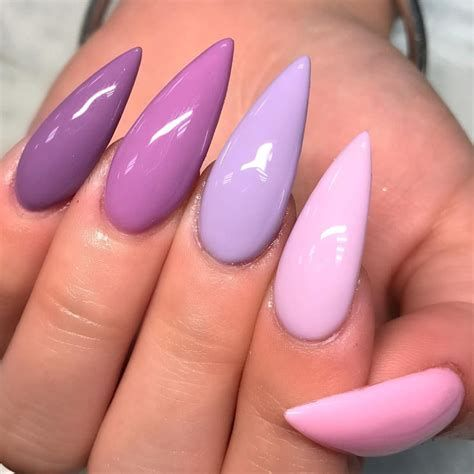 Creative Purple And Pink Nails 28