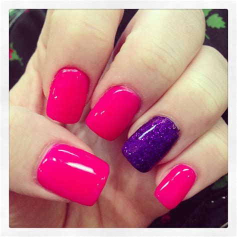 Creative Purple And Pink Nails 32