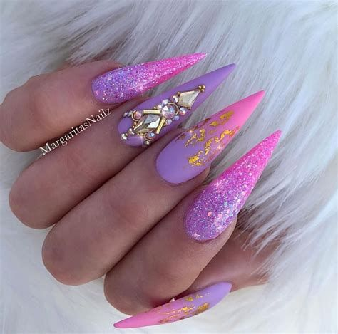 Creative Purple And Pink Nails 35