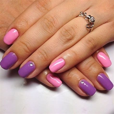 Creative Purple And Pink Nails 37
