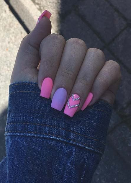 Creative Purple And Pink Nails 39