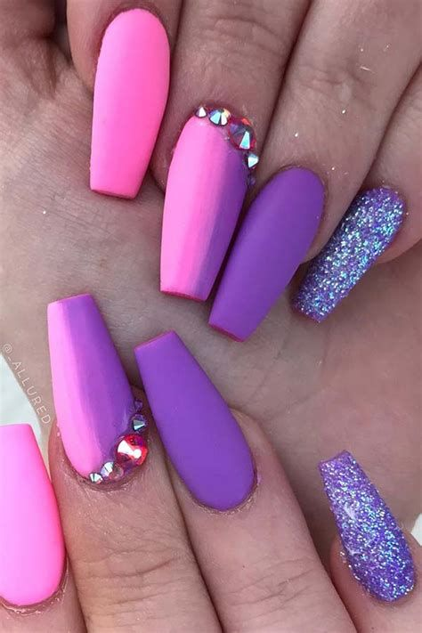 Creative Purple And Pink Nails 41