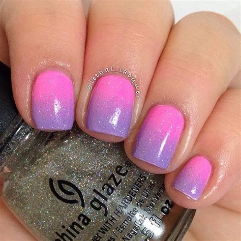 Creative Purple And Pink Nails 42