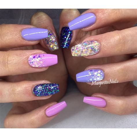 Creative Purple And Pink Nails 43