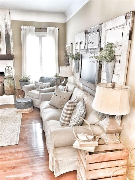 Creative Vintage Farmhouse Living Room 19