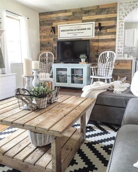 Creative Vintage Farmhouse Living Room 22