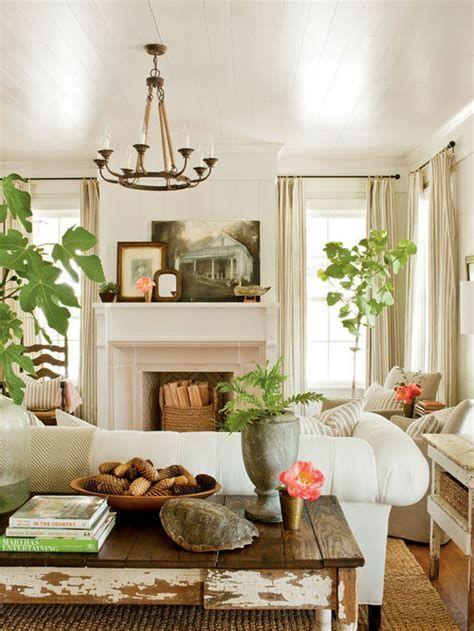 Creative Vintage Farmhouse Living Room 34