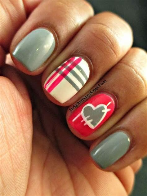 Cute Valentines Day Nails Art Ideas 08