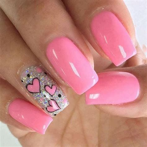 Cute Valentines Day Nails Art Ideas 19