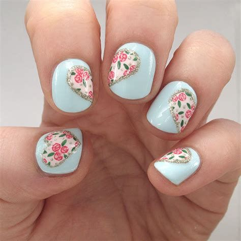 Cute Valentines Day Nails Art Ideas 30