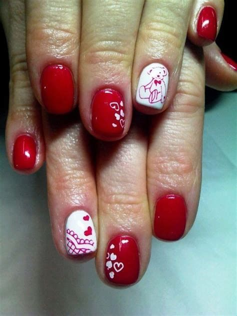 Cute Valentines Day Nails Art Ideas 36