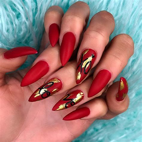 Cute Valentines Day Nails Art Ideas 43