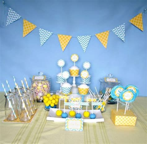 Inspiring Blue And Yellow Party Decoration Ideas 30