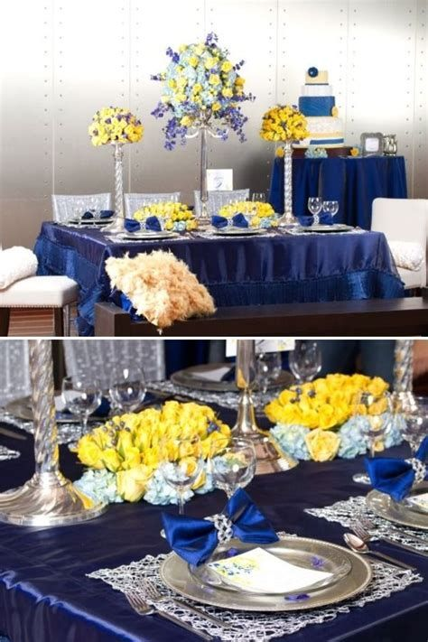Inspiring Blue And Yellow Party Decoration Ideas 37