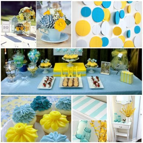 Inspiring Blue And Yellow Party Decoration Ideas 44