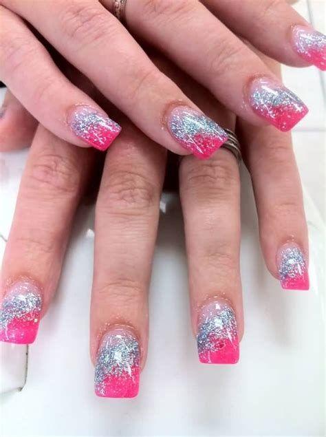 Inspiring Silver And Pink Nails 01