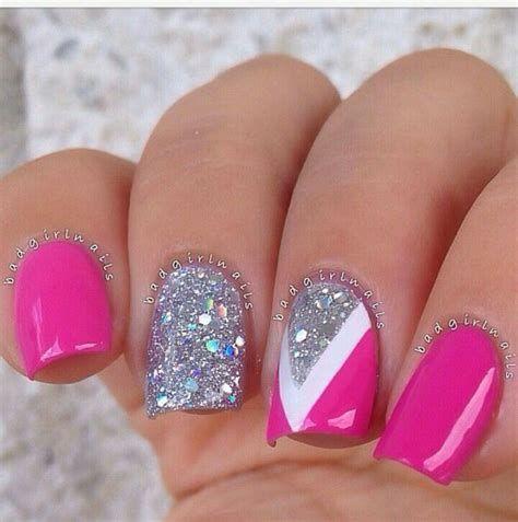 Inspiring Silver And Pink Nails 07
