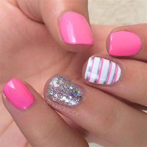 Inspiring Silver And Pink Nails 11