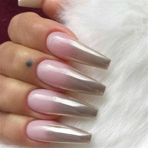 Inspiring Silver And Pink Nails 12