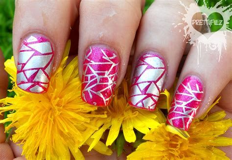 Inspiring Silver And Pink Nails 15