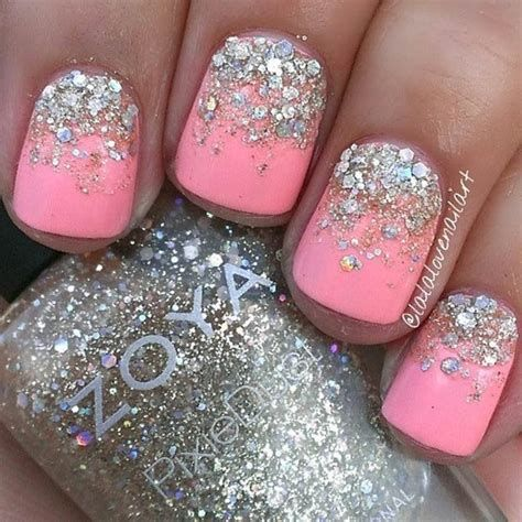 Inspiring Silver And Pink Nails 17