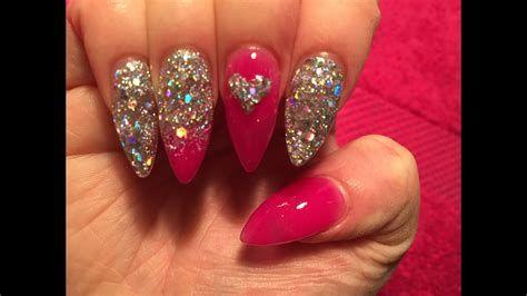 Inspiring Silver And Pink Nails 19
